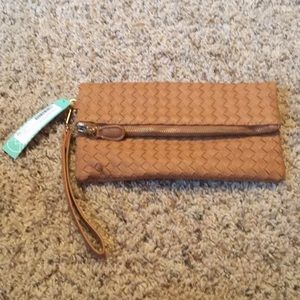 Urban Expressions brown fold over clutch